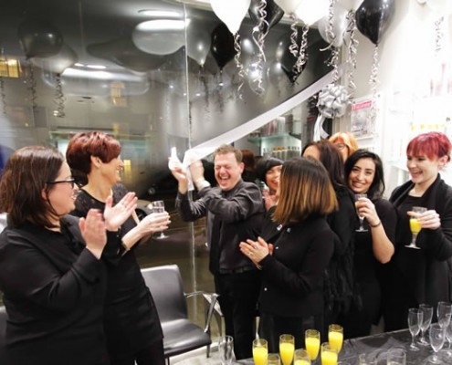 Hair salon team at the opening