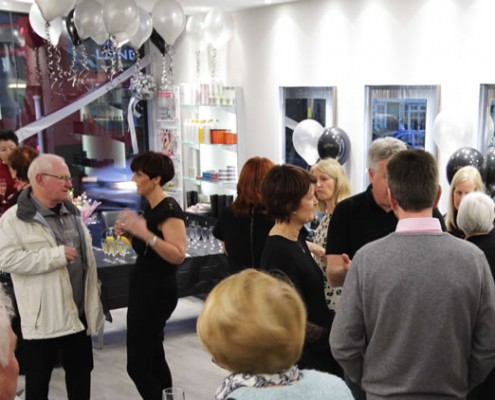 Hair salon opening party