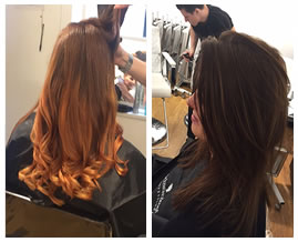 Hair colouring course results