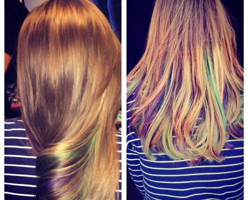 Pastel Balayage highlight hair