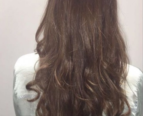 After hair extensions