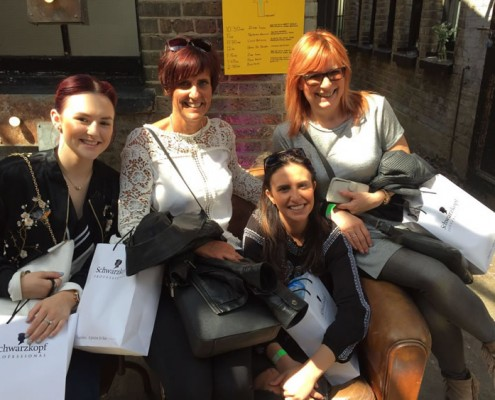 Our staff at hair colour world 2016