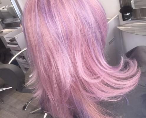 Rainbow hair colouring