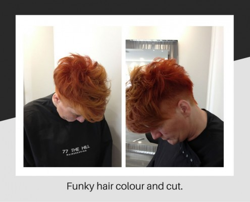 Funky hair colouring and cut