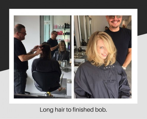 Long hair to finished bob