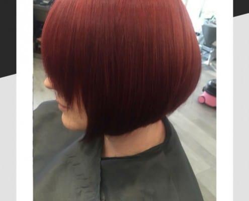 Copper and mahogany hair tones