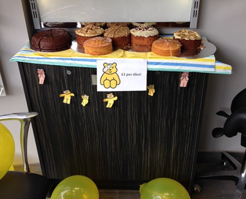 Lots of cakes for charity