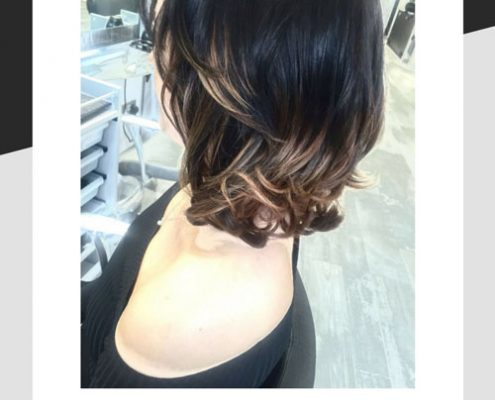 Hair after Balayage
