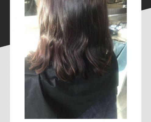 Hair before Balayage