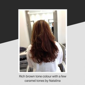 Rich brown tone colour with a few caramel tones by Natalina