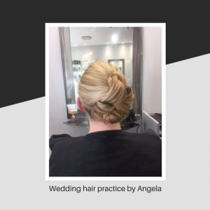 Wedding hair practice by Angela
