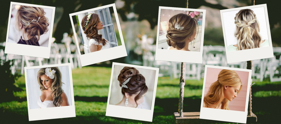 Wedding hair in different styles