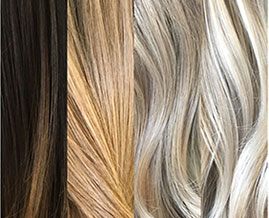 Hair colouring from dark to blonde