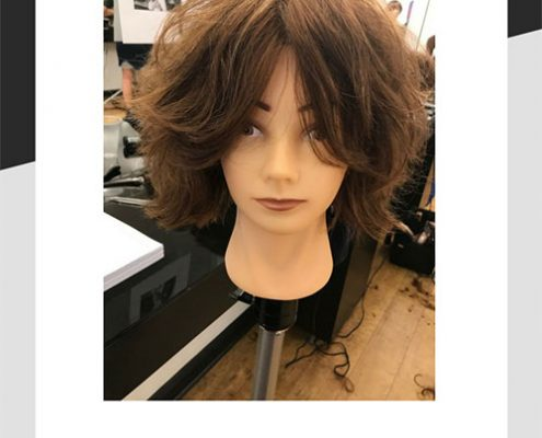 Freestyle heavily layered bob cut by Mel