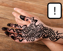 A warning about black henna tattoos