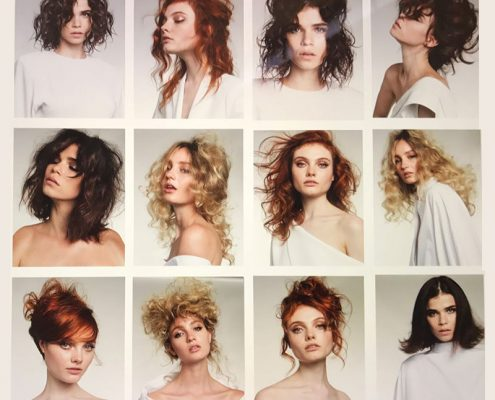 Varied hair styles by Mel and Hannah