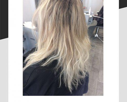 Blonde hair before balayage