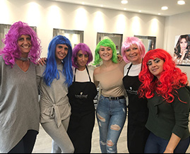 Hairdressers charity day in Enfield