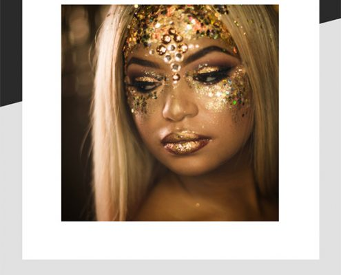 Example of face glitter