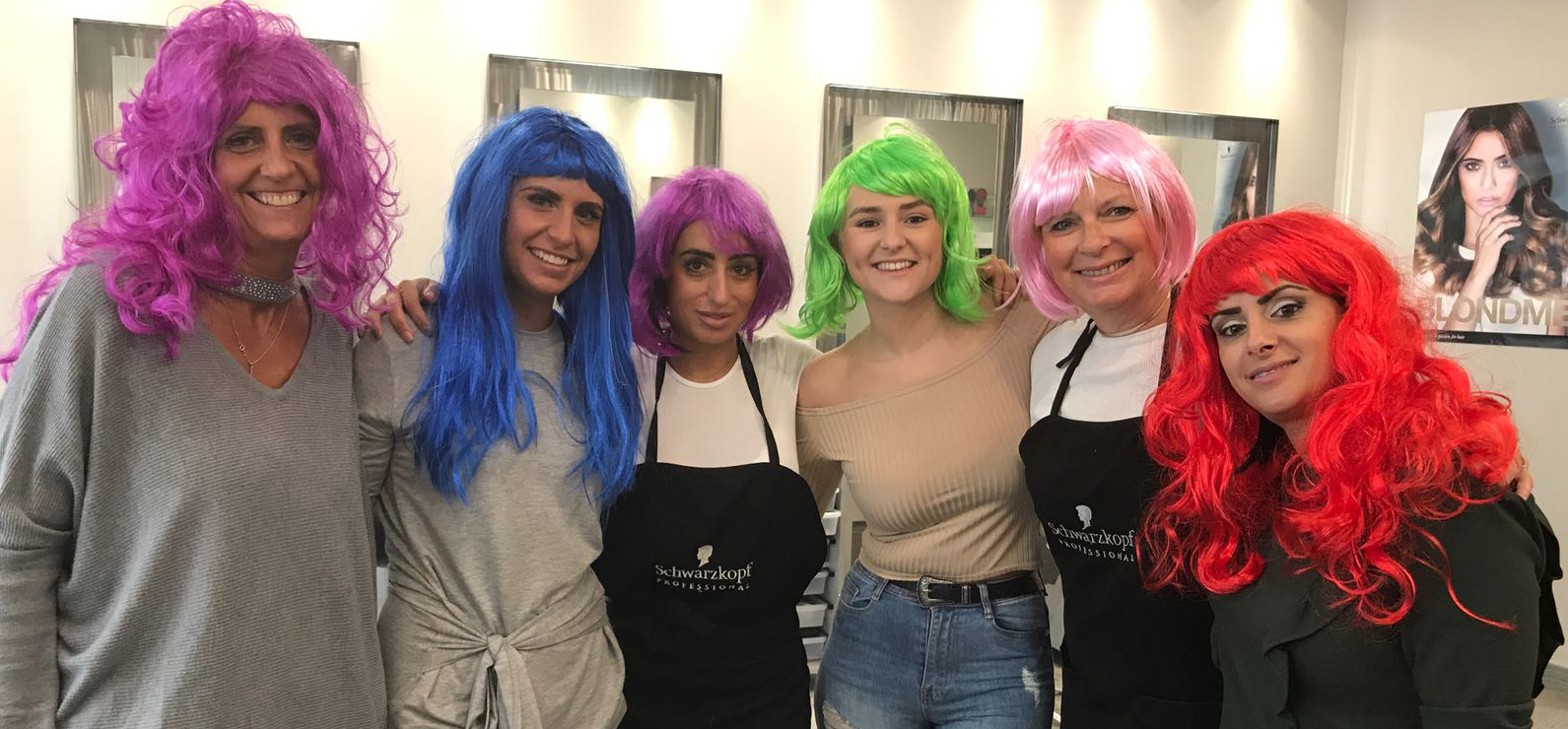 Hair salon charity day in Enfield
