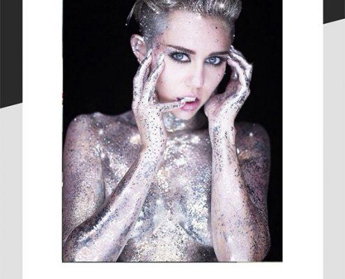 Miley Cyrus glitter