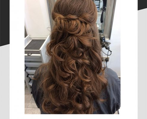 Hannah's second bridesmaids hair