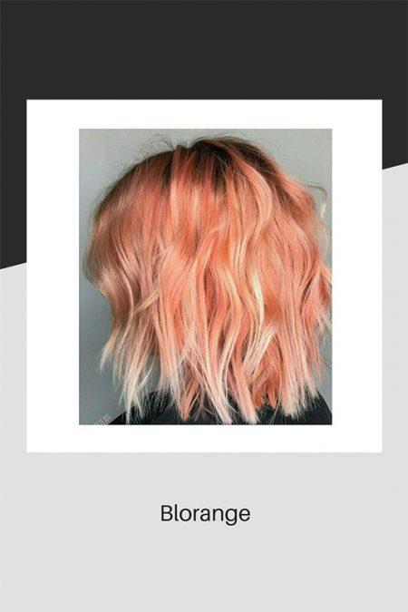 Blorange hair colouring