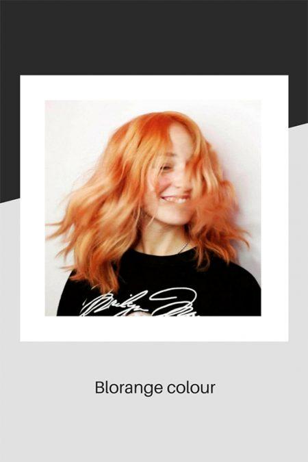 Blorange hair colour