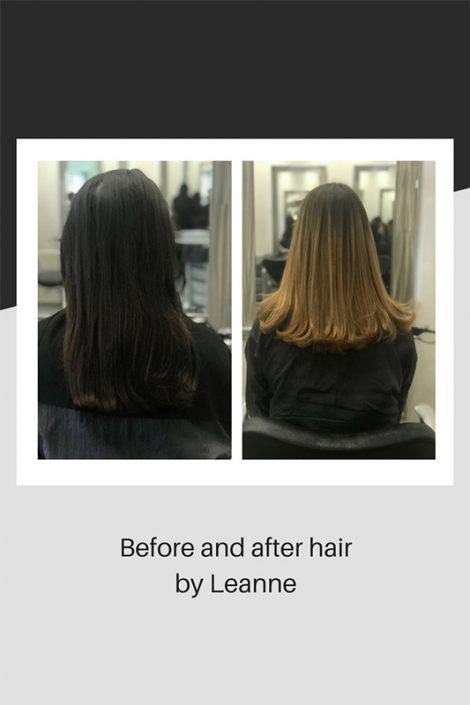 Before and after hair by Leanne