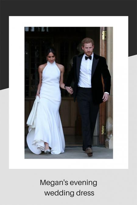 Megan Markle's evening wedding dress