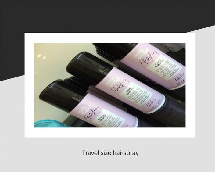 Travel size hair spray
