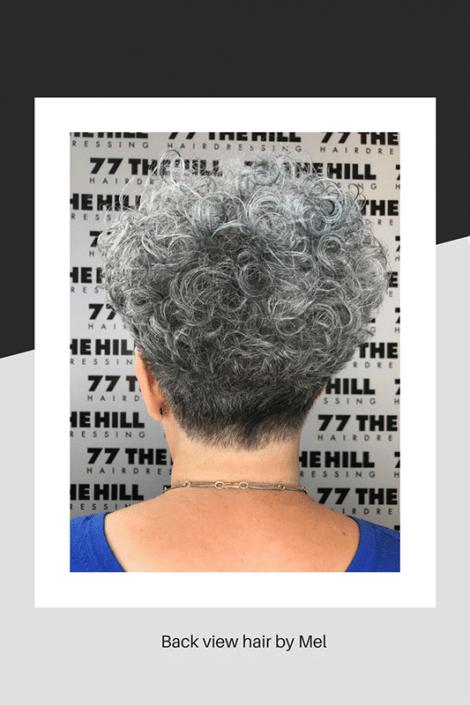 Back view of Mel's hair cut