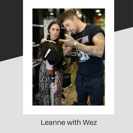 Wez teaching Leanne about barbering