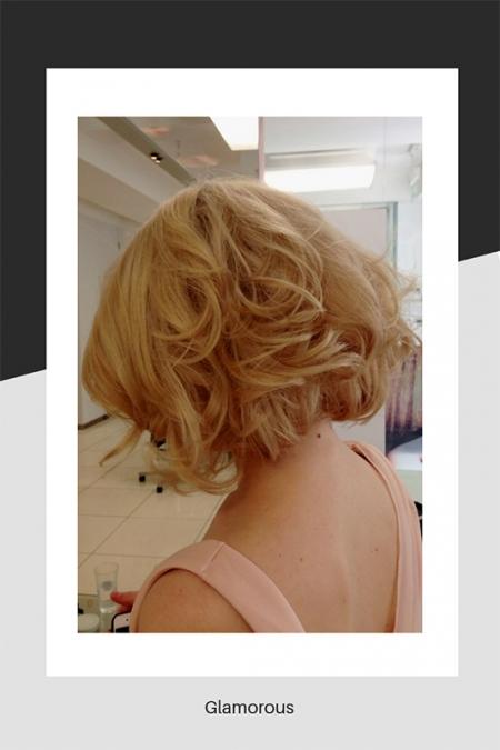 Glamorous hair style