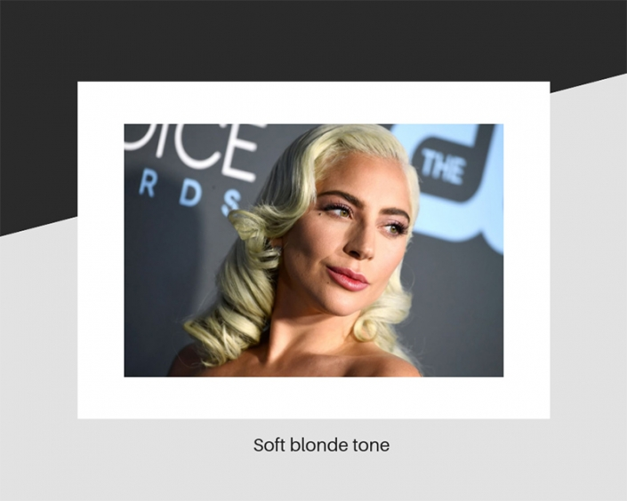 Lady Gaga's soft blonde hair tone