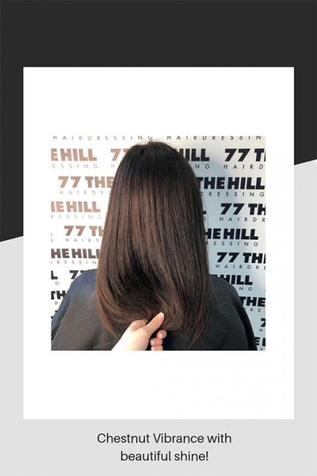 Chestnut hair colouring