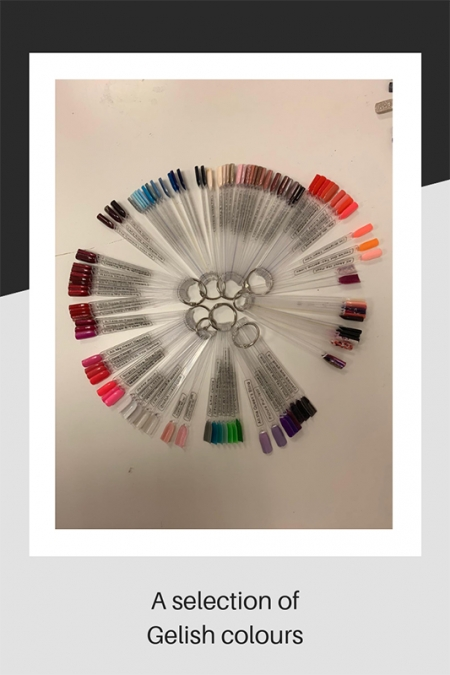 A selection of Gelish nail colours