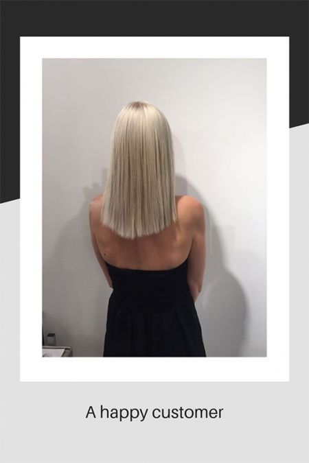 Client with blonde hair