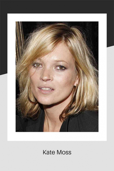 Kate Moss with blonde hair