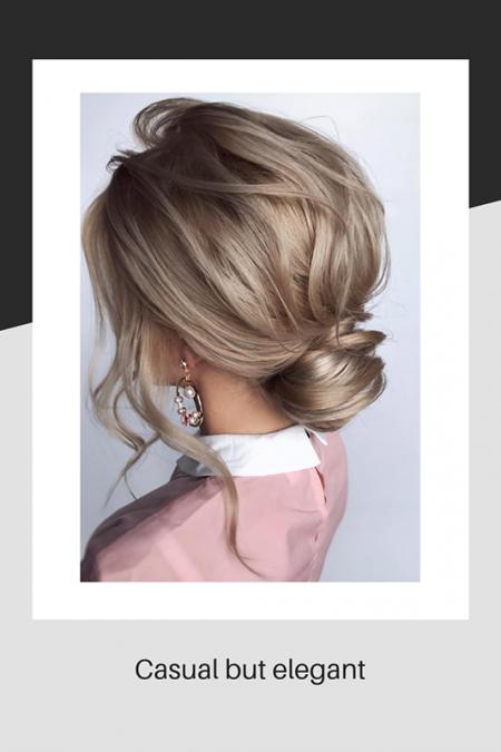 Casual but elegant wedding hair