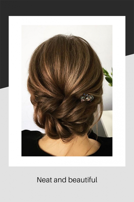 Neat and beautiful hair style