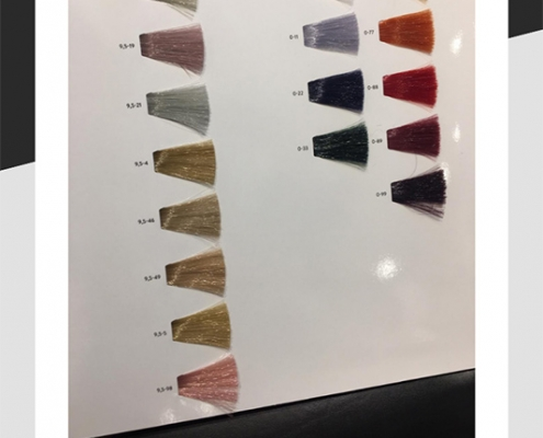 Sample of hair colours