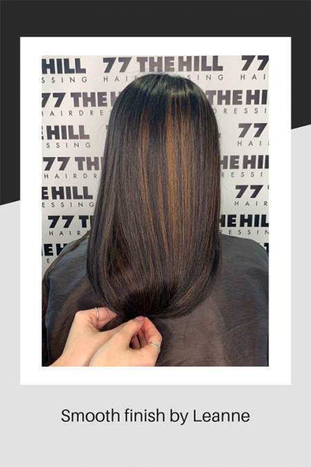 Smooth hair finish by Leanne