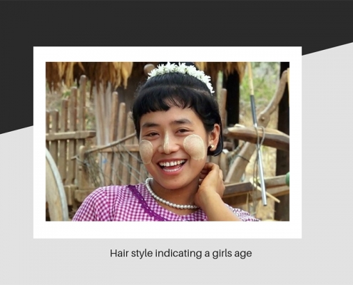 Mayanmar young girl hair style