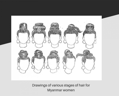 Drawings of Myanmar girls hair styles