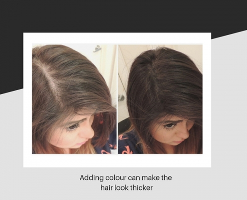 Colouring can make hair look thicker