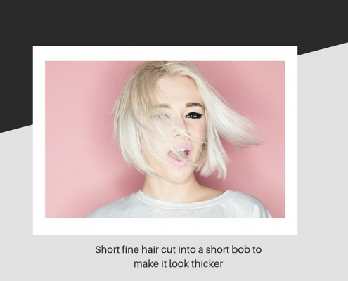How hair can look thicker after a short bob