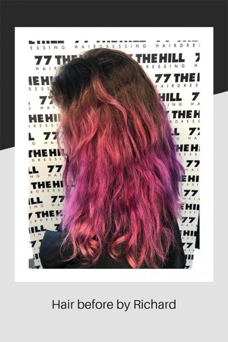 Hair before de-colouring