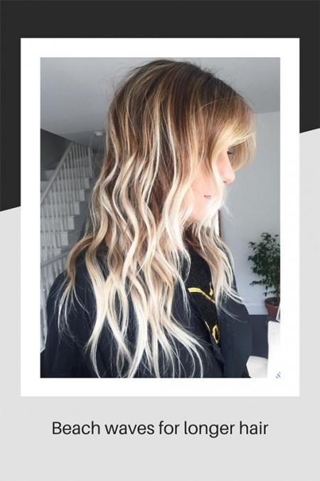 Beach waves for longer hair