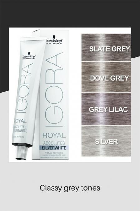 Classy grey hair tones